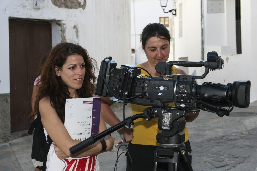 Rodaje del documental El pan de las piedras, realizado con metodologías de audiovisual participativo por Trasfoco Escuela Audiovisual Itinerante para no Audiovisualistas en la Serranía de Ronda, Málaga